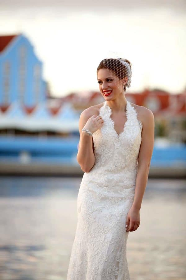 bride in Willemstad Curacao