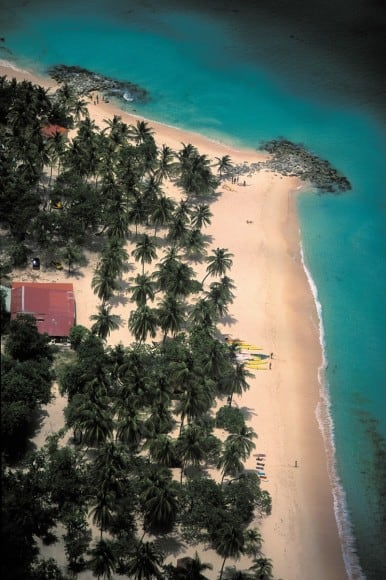 Aerial View of marie-galante beach