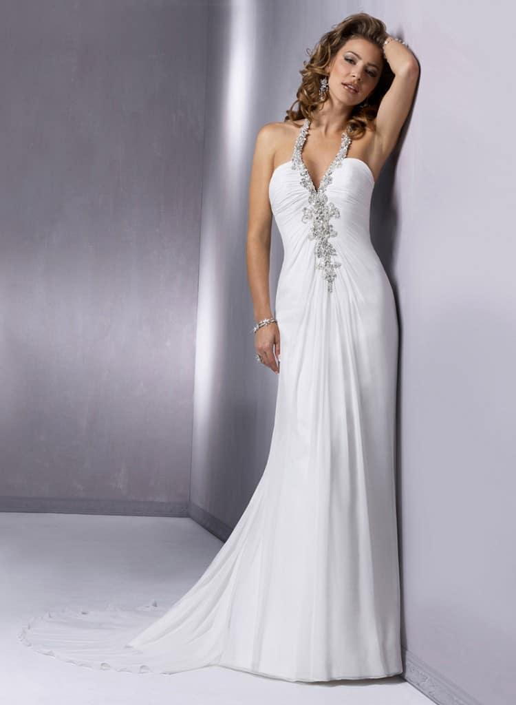 Maggie Sottero beach wedding gown