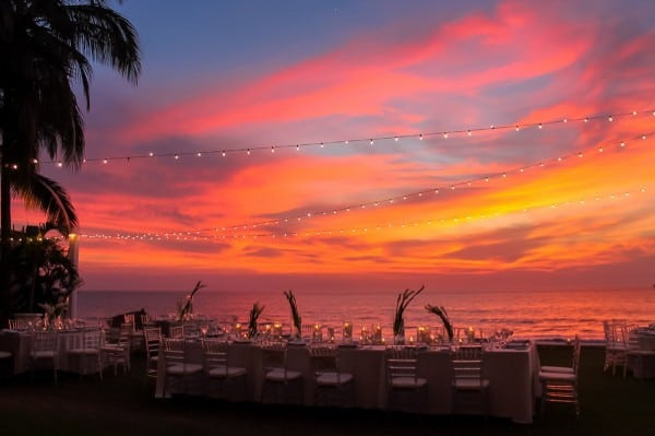 velas resorts weddings sunset