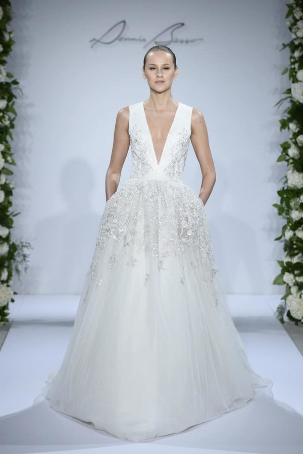 Dennis Basso for Kleinfeld Beach wedding Dress