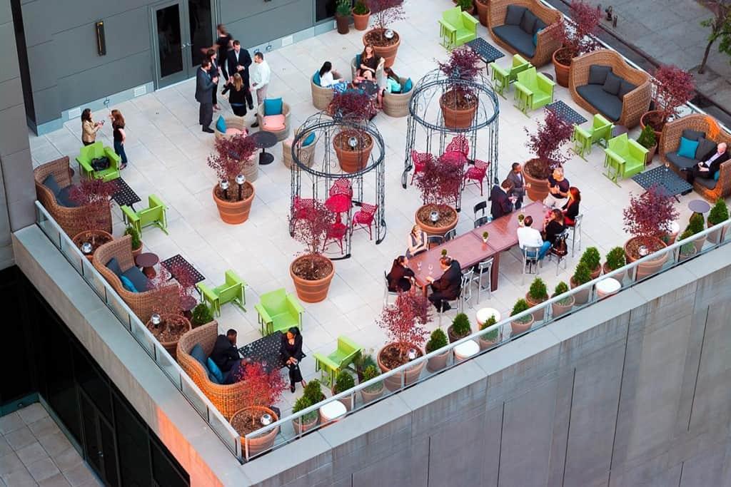 Eventi Hotel outdoor patio