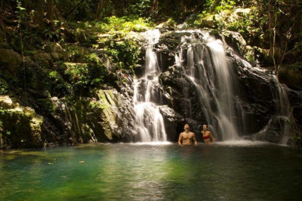 Couple in Waterfall pool