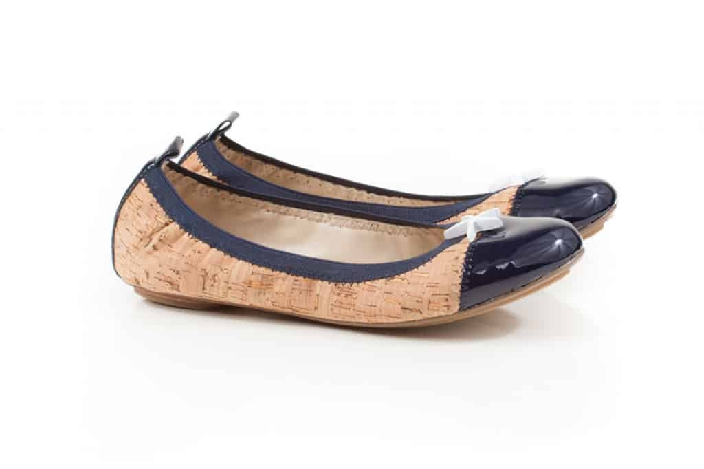 Very Lovely Soles cork and blue flats