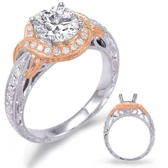 two tone engagement rings gold and silver