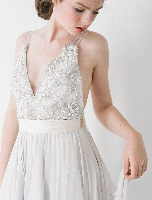 Destination wedding gown by truvelle