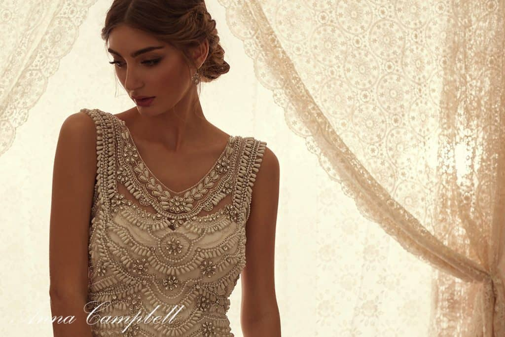 wedding gown by Anna Campbell