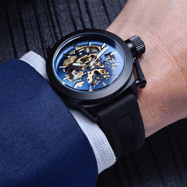 Men's Black and Blue Lord Watch