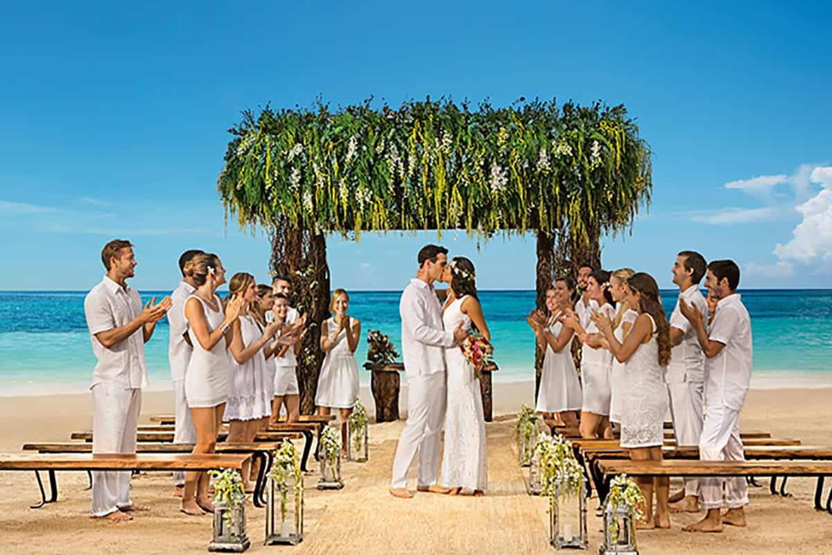 Beach wedding at AMR Resorts