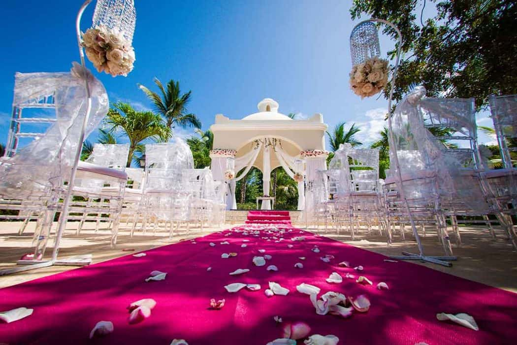 Beach wedding at Bahia Principe Hotel in the Caribbean