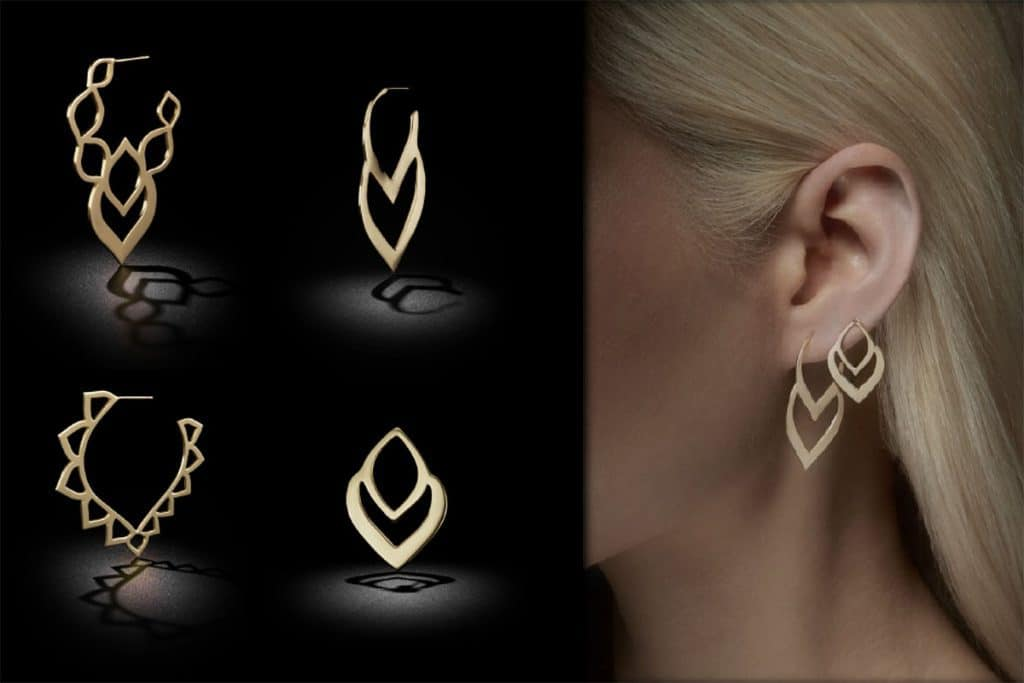 Earrings from the Two of Most jewellery collection