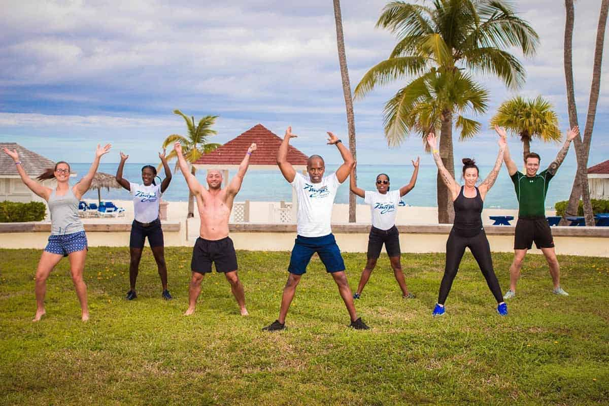 Fitness activities at Beached Resort in the Bahamas