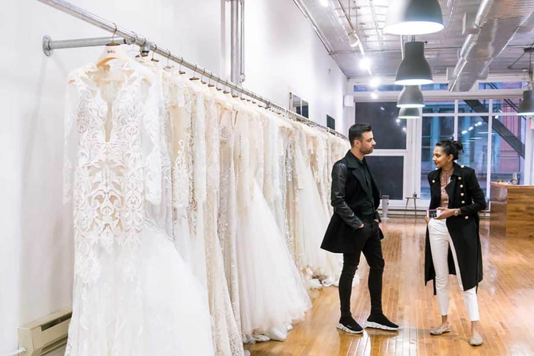 Wedding gowns at Berta Bridal's flagship store in NYC