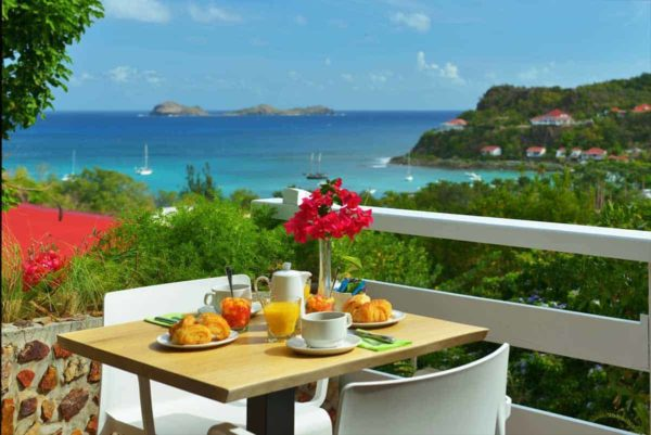 Patio of Hotel LeVillage Saint-Barth