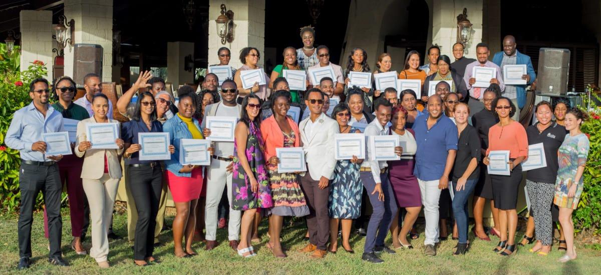 Caribbean Bride Academy's graduating class in Tobago