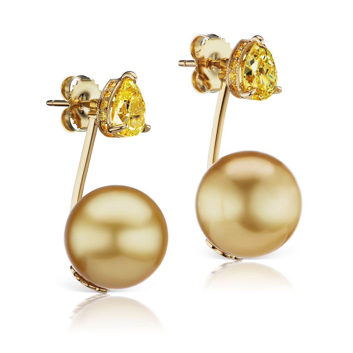 Floating Orb Earrings by Alexia Connellan