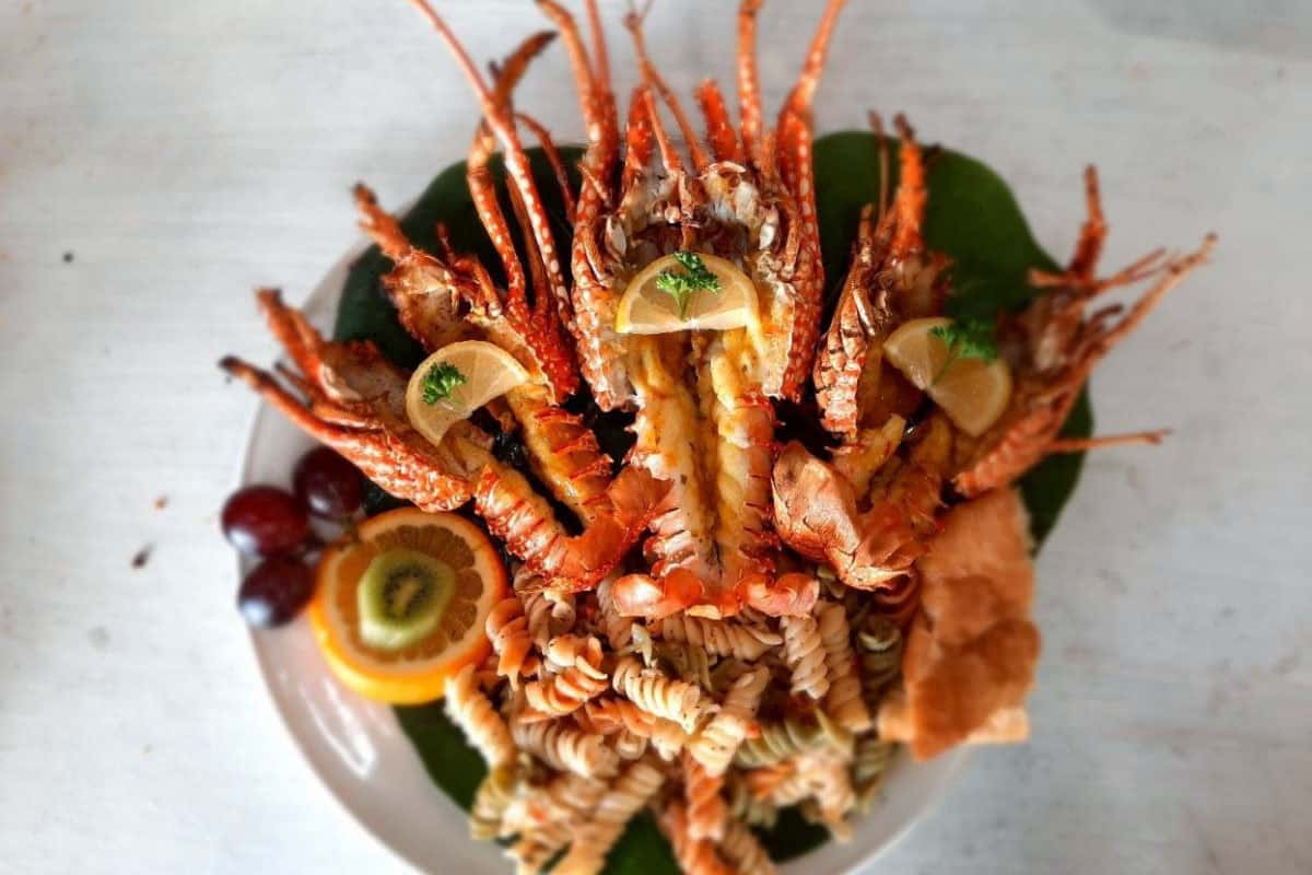 Seafood in The Caribbean island of Anguilla